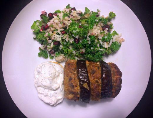 tyrkisk aubergine kebab