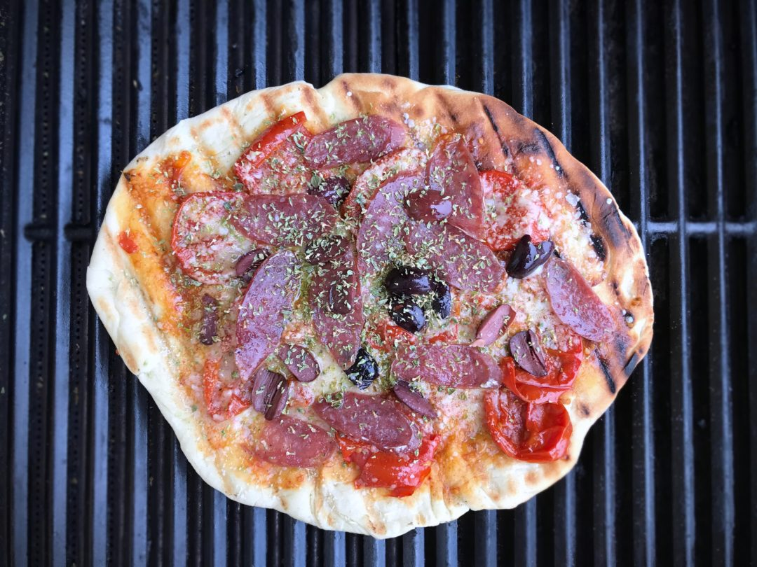 Grillet pizza