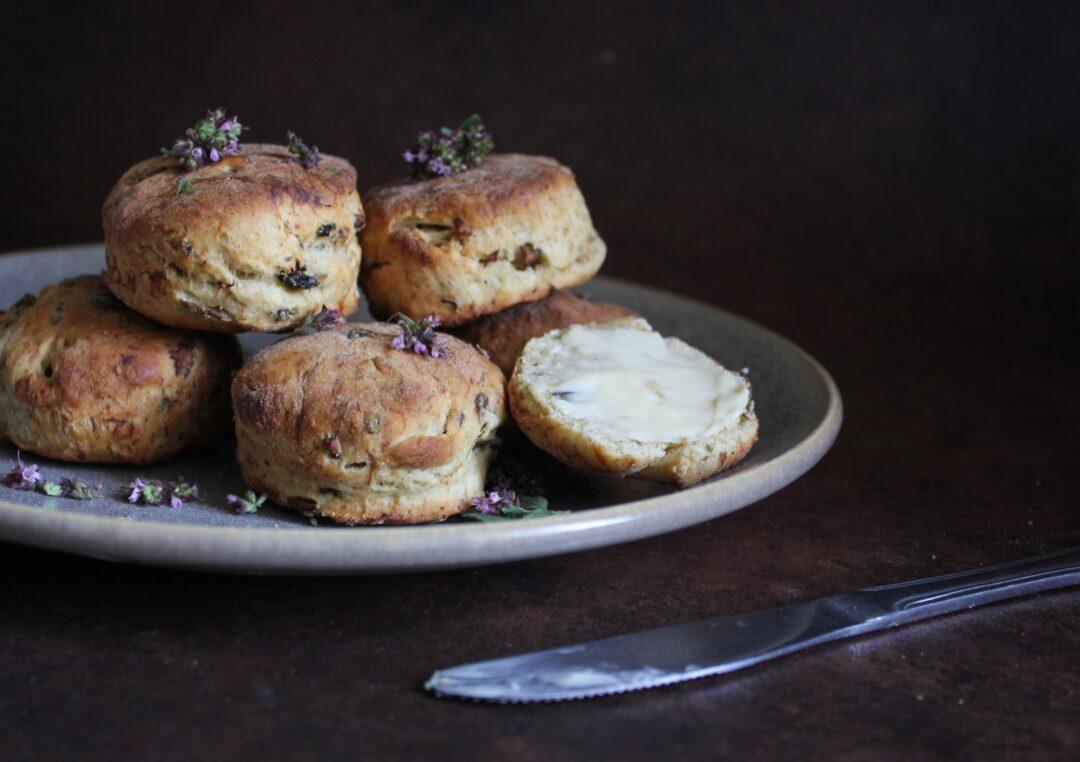 scones med svampe